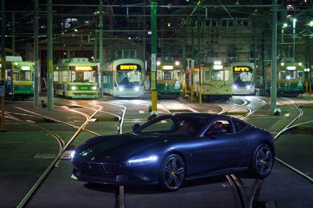 Ferrari ROMA +Hiroden(Hiroshima Tram)